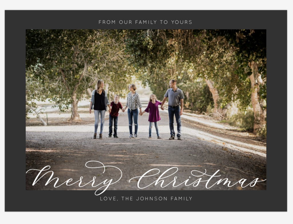 Holiday Cards from Portrait Session