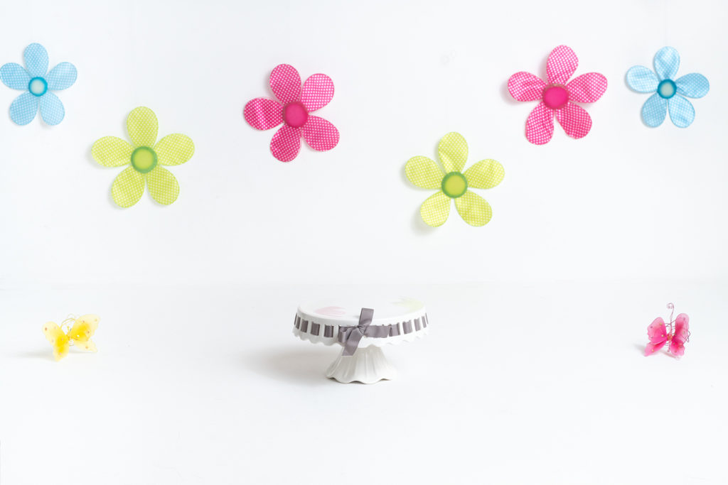Spring Flower and Butterflies Milestone & Cake Smash Portrait Background