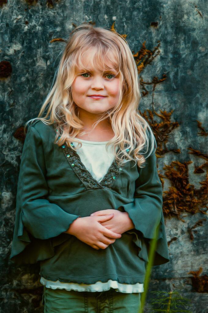 Fine Art Painterly Girl Portrait